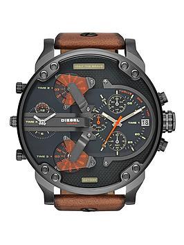 diesel-mr-daddy-black-dial-and-gunmetal-tan-leather-strap-mens-watch