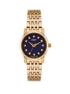 rotary-ladies-rose-gold-bracelet-watch-with-blue-dial
