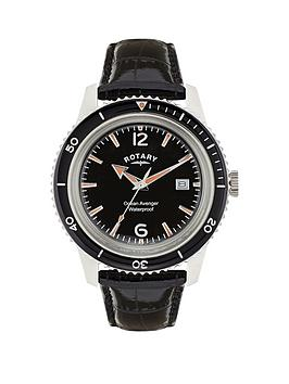 rotary-ocean-avenger-stainless-steel-case-black-dial-black-leather-strap-mens-watch