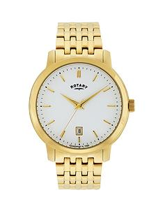 rotary-sloane-white-dial-gold-plated-stainless-steel-bracelet-mens-watch