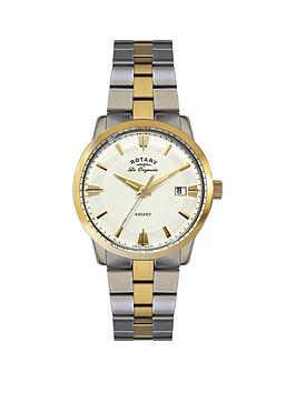 rotary-swiss-les-originales-cream-and-gold-dial-two-tone-gold-plated-and-stainless-steel-bracelet-mens-watch