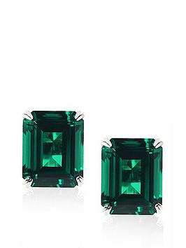 carat-london-9-carat-white-gold-15-carat-equivalent-double-prong-emerald-green-stud-earrings