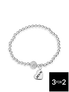 the-love-silver-collection-sterling-silver-crystal-ball-beaded-stretch-bracelet-with-mum-heart-charm