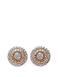 love-silver-9-carat-rose-gold-and-sterling-silver-diamond-set-circle-earrings