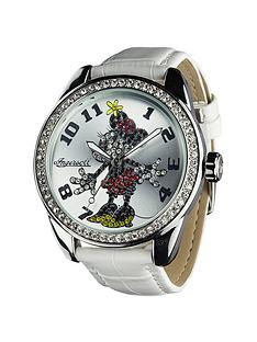 disney-by-ingersoll-classic-diamante-white-minnie-ladies-watch