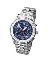 Chronograph Blue Dial Stainless Steel Bracelet Mens Watch