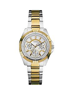 guess-mini-phantom-two-tone-silver-and-gold-plated-stainless-steel-bracelet-ladies-watch