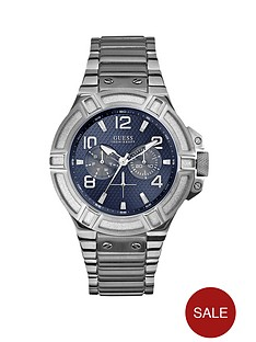 guess-rigor-blue-multi-dial-stainless-steel-bracelet-mens-watch