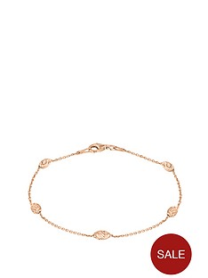 love-silver-rose-gold-plated-sterling-silver-diamond-cut-station-bracelet