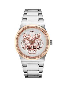 kenzo-tiger-head-stainless-steel-bracelet-unisex-watch