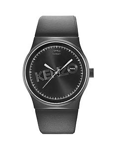 kenzo-logo-dial-black-leather-strap-unisex-watch
