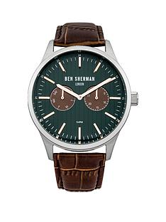 ben-sherman-brown-leather-strap-mens-watch