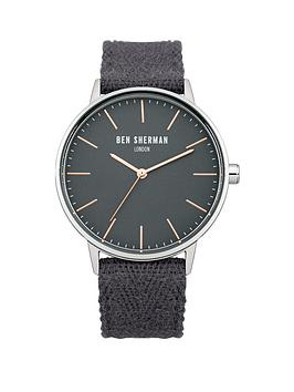Ben Sherman Ben Sherman Grey Dial and Fabric Strap Mens Watch