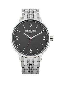 ben-sherman-black-dial-stainless-steel-bracelet-mens-watch