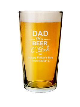 personalised-dad-its-beer-o-clock-pint-glass