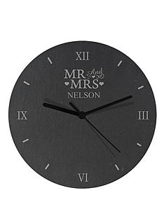 personalised-mr-and-mrs-slate-clock