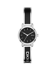 dkny-soho-stainless-steel-bangle-with-black-enamel-inlay-ladies-watch