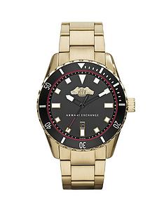 armani-exchange-black-dial-and-gold-plated-bracelet-mens-watch