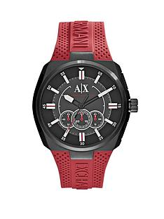 armani-exchange-black-dial-and-red-silicone-strap-mens-watch