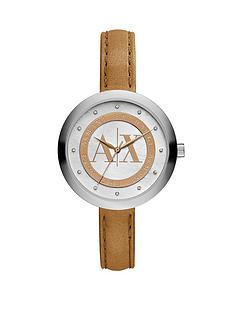 armani-exchange-mop-dial-and-tan-leather-strap-ladies-watch