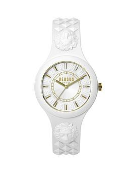 versus-versace-by-versace-fire-island-white-strap-gold-highlights-ladies-watch