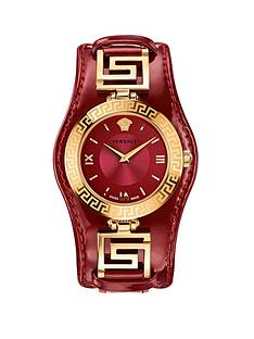 versace-v-signature-swiss-movement-greek-key-gold-accents-red-patent-leather-strap-ladies-watch