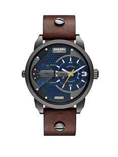diesel-mini-daddy-blue-dial-with-dark-brown-leather-strap-mens-watch