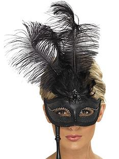 black-baroque-fantasy-masquerade-mask-with-feathers