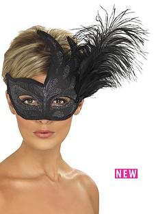 ornate-black-feather-mask