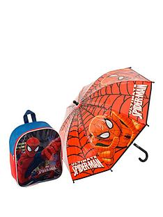 spiderman-back-pack-and-umbrella-set