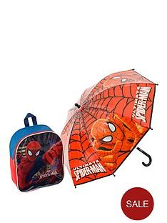 spiderman-back-pack-and-umbrella-set