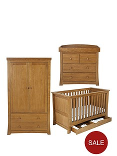 silver-cross-canterbury-cot-bed-dresser-and-wardrobe