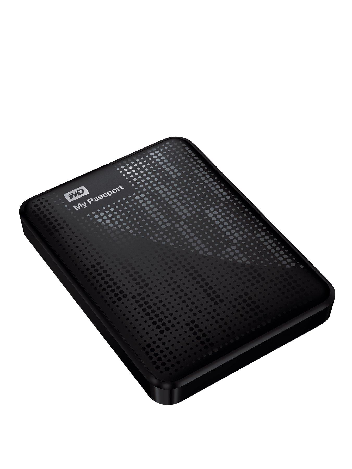 Western Digital My Passport 1Tb Portable Hard Drive - Black, Black