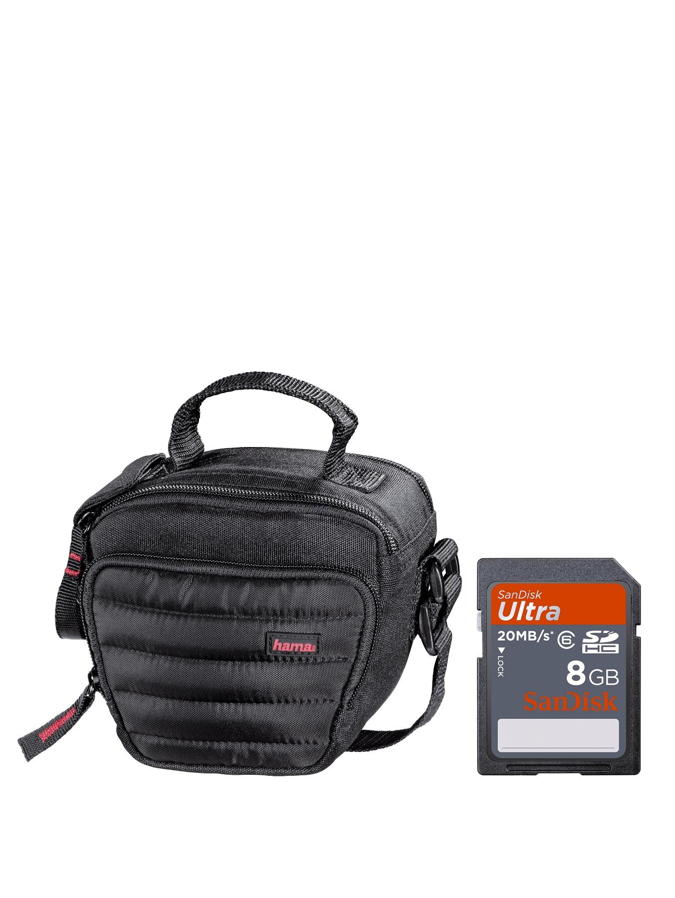 HAMA Bridge Bundle with SanDisk 8Gb Ultra SD Card and Hama Syscase 90 Colt Camera Bag - Black at Very, from Littlewoods