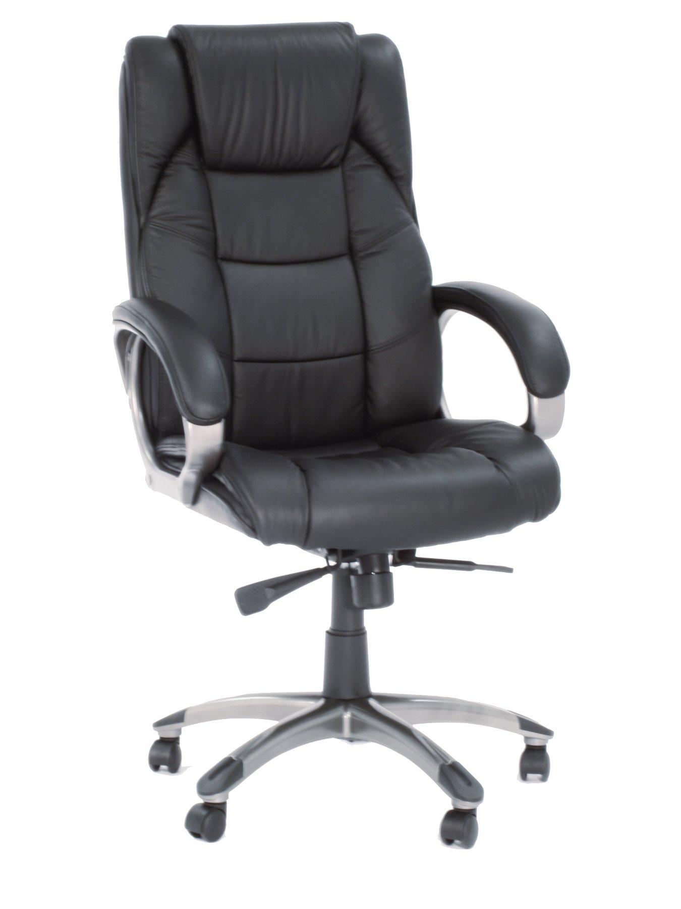Northland Leather Office Chair - Black, Black,Brown