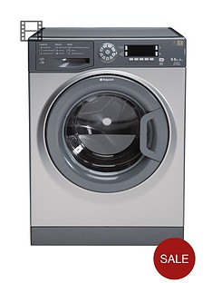 hotpoint-wdud9640g-96kg-load-1400-spin-washer-dryer-graphite