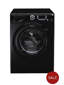 hotpoint-wdud9640k-96kg-load-1400-spin-washer-dryer-black