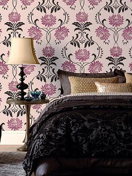 Laurence Llewelyn Bowen Petal Wallpaper Red Multi Very