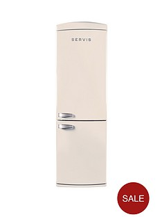 servis-c60185nfc-60cm-no-frost-fridge-freezer-cream