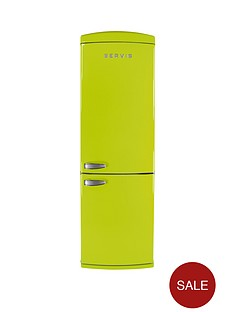 servis-c60185nfpt-60cm-no-frost-fridge-freezer-green