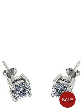 moissanite-9-carat-white-gold-100pt-cushion-set-earrings