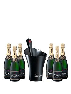 lanson-case-of-6-black-label-brut-champagne-with-free-ice-bucket