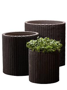 keter-rattan-round-planters-3-pack