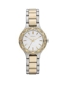 dkny-ladies-glitz-two-tone-bracelet-watch