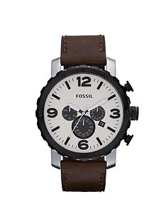 fossil-nate-egg-shell-dial-mens-watch