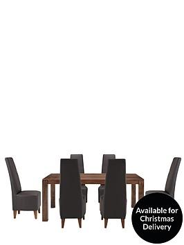 dakota-175cm-dining-table-and-6-manhattan-dining-chairs