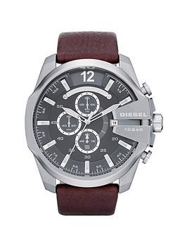 diesel-mens-mega-chief-brown-strap-watch