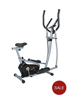 v-fit-kpce-121-magnetic-2-in-1-cycle-elliptical-trainer