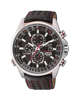 Citizen Eco-Drive Red Arrows World Chronograph A.T. Radio-Controlled Strap Mens Watch