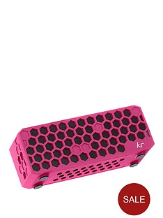 kitsound-hive-bluetoothreg-wireless-portable-stereo-speaker-pink